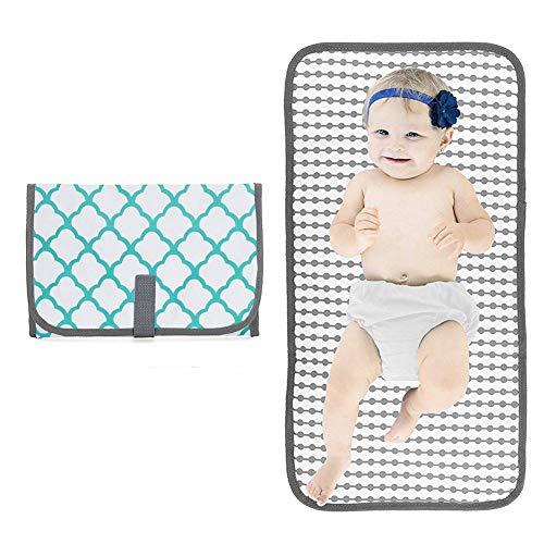 ZHANGXJ Pañal 4 Piezas Cambiador Portátil de Pañales para Bebé Impermeable Kits para Cambio de Pañales Cambiador de Viaje Colchones Plegables para Cambiador Bolsillo (Color : Green)