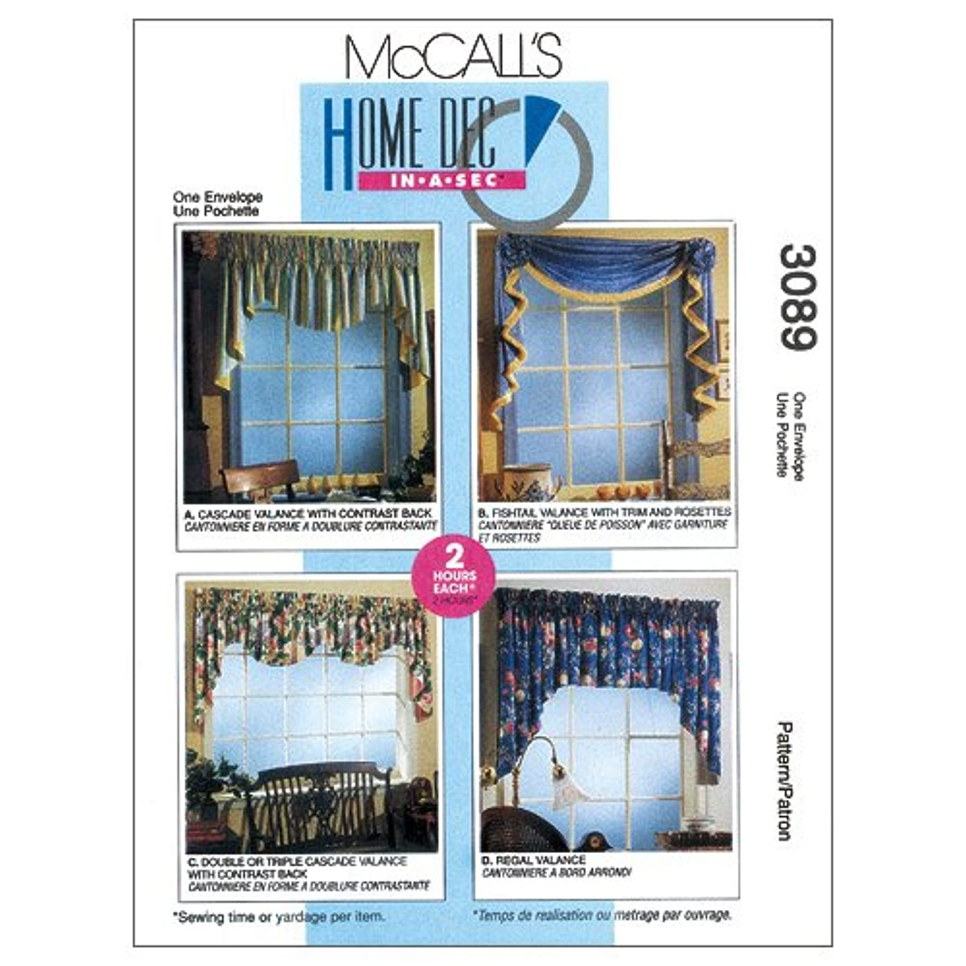 McCall's Patterns M3089 2 Hour Valance Classics