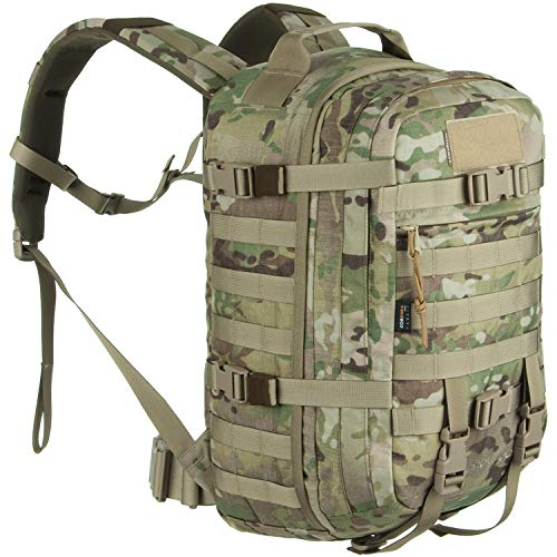 Wisport Armee Rucksack Molle Damen Herren + inkl. E-Book | Survival Backpack | Militär | Military | original Army Backpack | Taktik | aus Cordura | Sparrow II | 30L, Camo:US Multicam