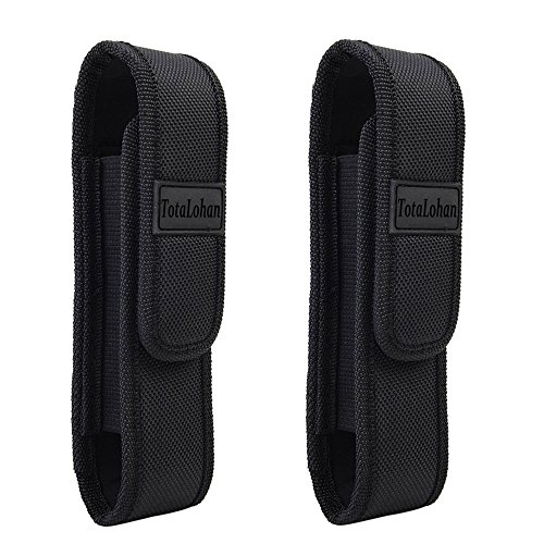 2pcs Tactical Light Pouch Holster Belt Carry Cases Fits G700,A100,Tp360,X800,TC1200 Tactical Flashlight