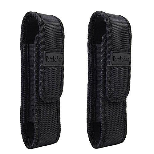TotaLohan 2pcs Tactical Light Pouch Holster Belt Carry Cases Fits G700,A100,T2000,X800 Tactical Flashlight,TC1200 TACITCAL Holster
