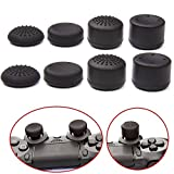 VizGiz 8PCS Enhanced Height Rubber Silicone Cap Thumbstick Thumb Stick Covers Case Skin Joystick Grip Grips For Sony PlayStation 4 PS PS4 Accessories Games Wireless Controller Pro ( Black 4 Pair )
