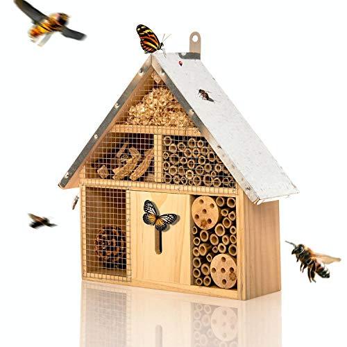 bambuswald© Insektenhotel ca. 29 x 24 x 8 cm | Bienenhotel Unterschlupf für Insekten - Insektenhaus Naturmaterialien. Gelebter Natur- & Artenschutzfür Zuhause -NistkastenHausNützlingshotel Schutz