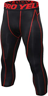 comprar comparacion Shengwan Leggings 3/4 Hombre Deportivos Mallas Térmicos Correr Gimnasio Pantalones de Compresión