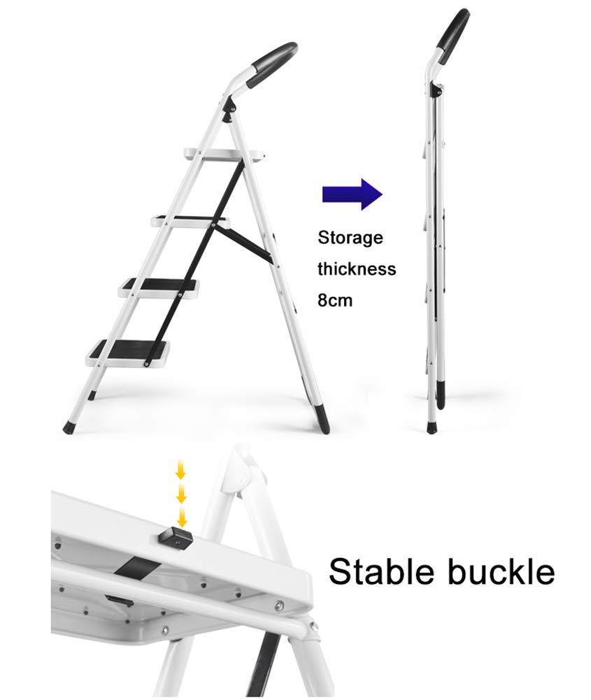 Step Stool Taburete escalón Plegable para Adultos, Escalera roja de 2 peldaños para Personas Mayores, Cocina/Sala de Estar portátil con agarradera, 49 x 51 x 77,5 cm: Amazon.es: Bricolaje y herramientas