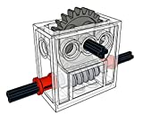 LEGO Technic COMPLETE GEARBOX ASSEMBLY 2 x 4 x 3 1/3 Trans-Clear Wormbox gear motor REDUCER block Mindstorms robotics ev3 NXT transparent robot building power functions part 6588