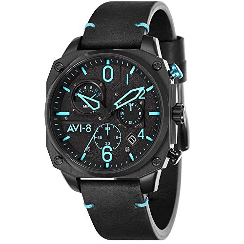 AVI-8 Homme Uhr Analogique Quartz mit Cuir Véritable Armband AV-4052-05