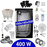 Kit Coltivazione Indoor 400W HPS Adjust-a-Wings - Grow Box 100x100x200 - Alimentatore ETI 1