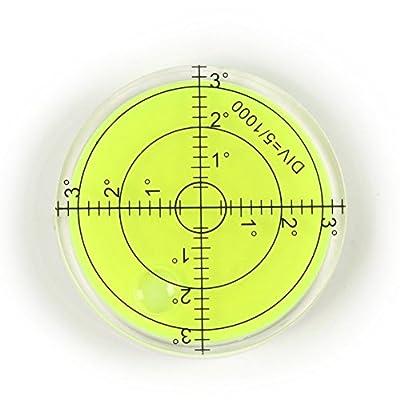 Bubble Level Measuring Tools - Level Degree Mark - Spirit Bubble Surface Level Round for RV Appliances,PRO,Cameras Measuring