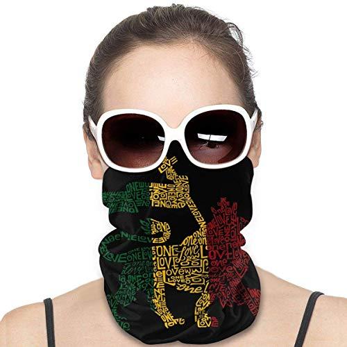 fenrris65 Rasta Máscara de León, bandanas, bufanda, pasamontañas, calentador de cuello, diadema para polvo, deportes al aire libre, polvo, sol