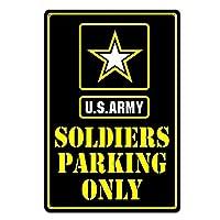 兵士専用駐車場米国陸軍おかしいティンサイン金属サイン金属装飾壁サイン壁ポスター壁の装飾ドアプラークティンサイン