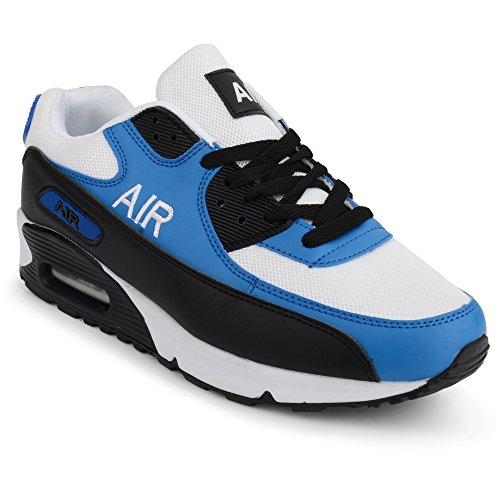 Mens Air Shock Absorbing Running Trainers Jogging Gym Fitness Trainer New Shoes Sizes 7 11 UK 10 UK WhiteBlue
