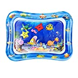 QPAU Baby Toys 3-6 Months, Tummy Time Baby Water Mat, Infant...