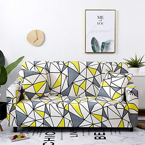 Fundas de sofá elásticas Protector de Muebles elástico Funda de sofá l Funda de sillón para Sala de Estar 1/2/3/4 plazas A13 4 plazas
