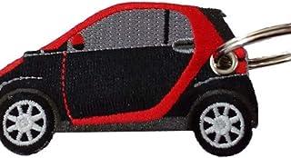 Smart schwarz rot doppelseitiger Schlüsselanhänger