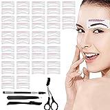 Best Eyebrow Stencils - DKAF Eyebrow Stencil with Eyebrow Tools, 24 Styles Review
