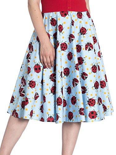 Hell Bunny Lila Ladybird Bloemenronde jaren 50 stijl rok