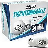 PHIBER-SPORTS Premium Tischtennisbälle 3 Stern [24 Stück] – Perfekte Spieleigenschaften - Ideal für Anfänger, Familien und Profis - Nach Wettbewerbsrichtlinien