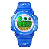 Kids Watches Boys for 4-12 Year Old, Blue Kids Digital Sports Waterproof Watches with Alarm Stopwatch, Children Outdoor Analog Electronic Watches Birthday Gifts for Age 4-12 Year Old Boys Girls