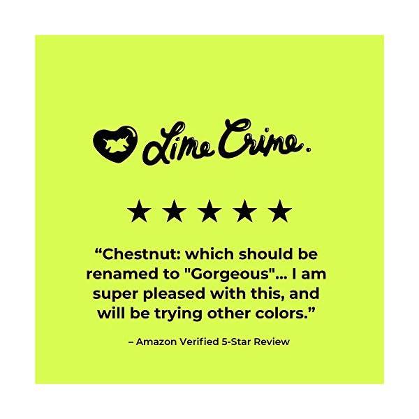 Lime Crime Unicorn Hair Dye, Chestnut - Maroon Brown Fantasy Hair Color - Ultra-Conditioning, Semi-Permanent, Damage-Free Formula - Vegan - 6.76 fl oz 4