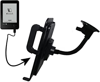 Gooseneck Holder Base with Suction Cup Mount compatible with Elonex 621EB eInk eBook Reader Tablet
