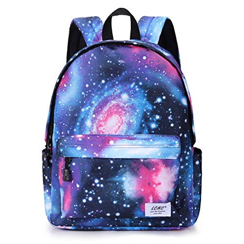 School Backpack for Girls Boys,Galaxy Water Resistant Durable Casual Basic Bookbag for Students