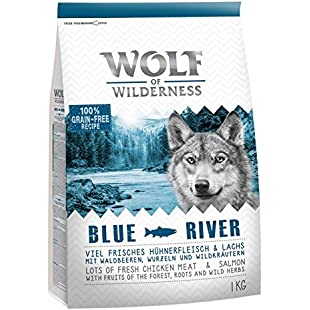 "Wolf of Wilderness Adult ""Blue River"" - Salmon. A Heathly Well-Balanced Food For Your Dog:Maskedking"
