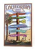 Generies California Beach Blechschild, Vintage, Retro,