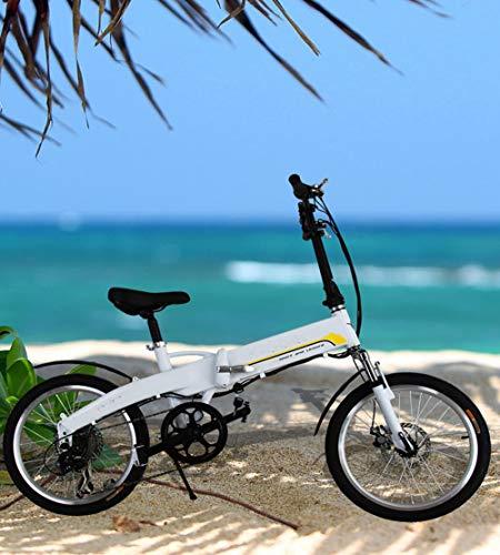 SHIJING 20 Pulgadas eléctrica SC eléctrica asistida de Bicicleta Plegable eléctrica al...