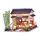 HomeDecTime Chalet DIY Dollhouse Kit Artisanat avec La en Bois Maison de Poupée