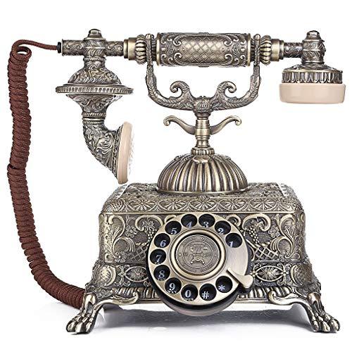 ZARTPMO El teléfono Fijo con dial Giratorio de Estilo Vintage Cuenta con un Timbre Tradicional y un dial con botón pulsador