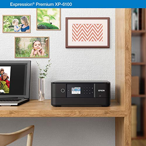 Epson Expression Premium XP-6100 Wireless Color Photo Printer with Scanner and Copier, Black, Medium Photo #6