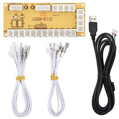 Arcade USB Encoder, Controlador de Juego genérico Juego de PC Tarjeta de Circuito de Joystick, Ensamblaje de Placa de Control del Controlador para Juegos de Lucha de PC