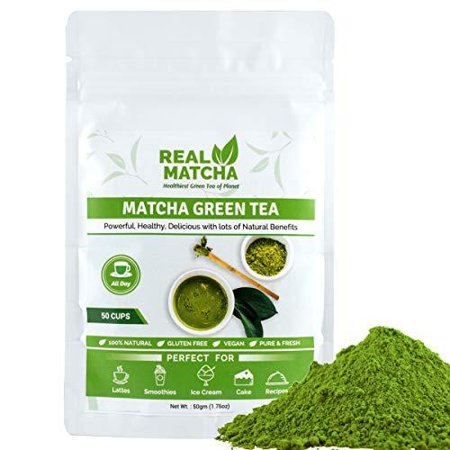 Real Matcha Japanese Matcha Green Tea Powder for Weight Loss 50gm (50 Cups)