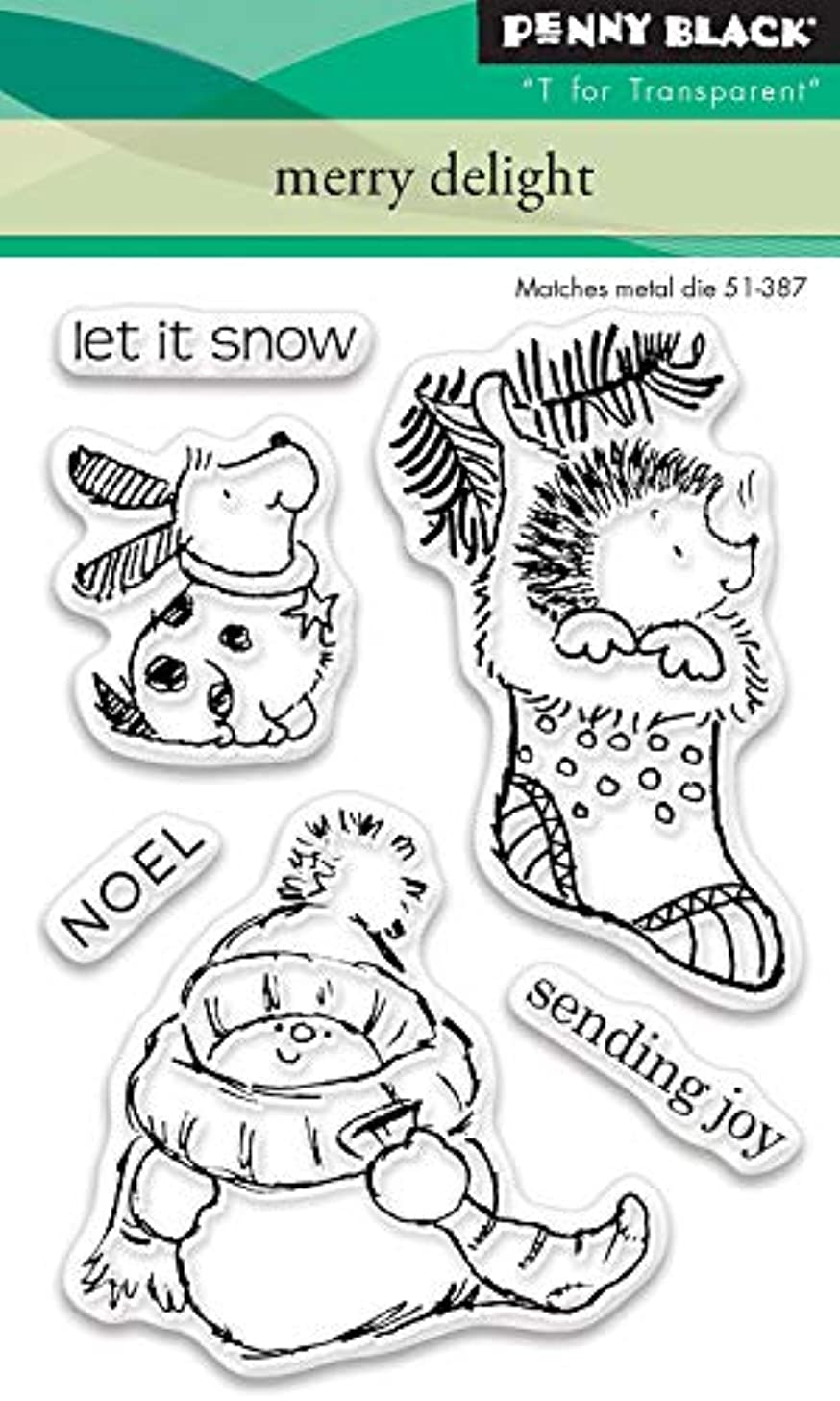 Penny Black Series Clear Stamp Set 30-448 Merry Delight