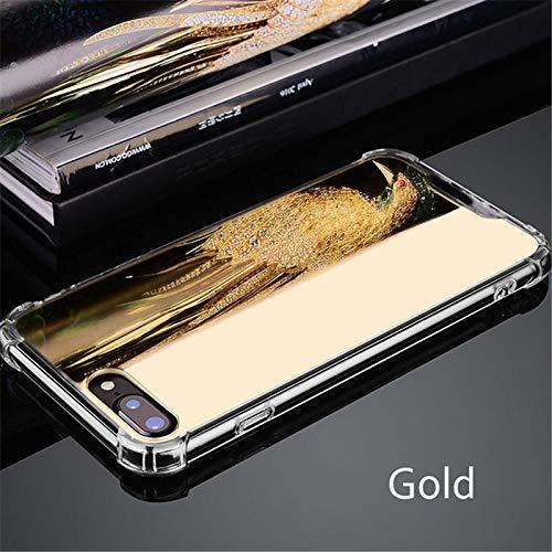 Artfeel Miroir Coque pour Samsung Galaxy S9, Très Mince Léger Clair Souple Silicone TPU Pare-Chocs Étui,Anti-Rayures Antichoc Miroir de Maquillage Arrière Housse Couverture-Or