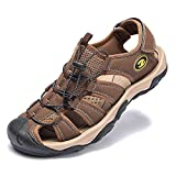 KIIU Closed Toe Sandals Athletic Sport Water Sandal for Men...