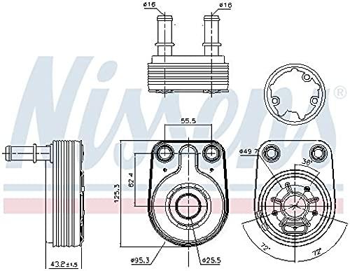 Nissens 90795 Radiateur d'huile de moteur