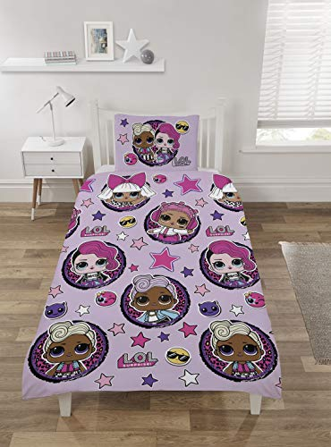 LOL Surprise Rock Stars Single Duvet Cover Bedding Set With Pillowcase