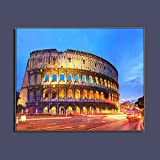 Lienzo de Pintura Noches en Roma Lugares de interés Arte de Pared póster Impreso Lienzo Pintura caligrafía Cuadro Decorativo para Sala de Estar decoración del hogar