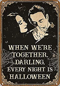 graman Family Poster Family Poster Husband and Wife Poster Gomez Addams Morticia Addams Spouse Novelty Tin Metal Sign Plaque Bar Pub Vintage Retro Wall Decor Poster Home Group Porch Metal Sign 8 x12