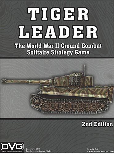 Solitaire Wargame Tiger Leader - The WW2 Ground Combat Strategy Game, 2nd Edition