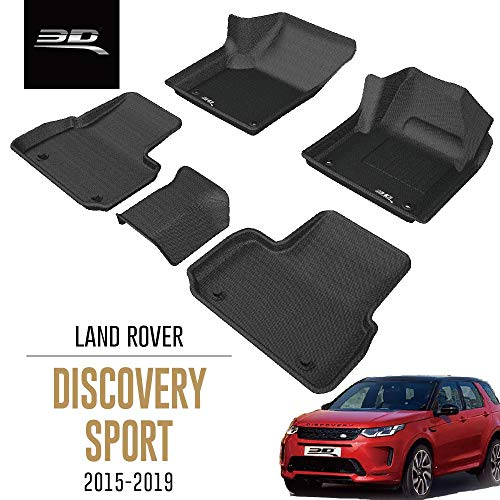 3D MAXpider All-Weather Car Floor Mats for Land Rover Discovery Sport L550 2015-2019 Tailored Fit Premium Waterproof Hybrid Rubber Car Mat Set (RHD for the UK)