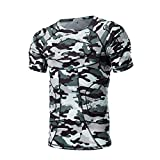 Protecteur Épaule Côtes Costume Sports T-Shirt de Protection à Manches Courtes Paintball Rugby pour Sports Football Basketball,M