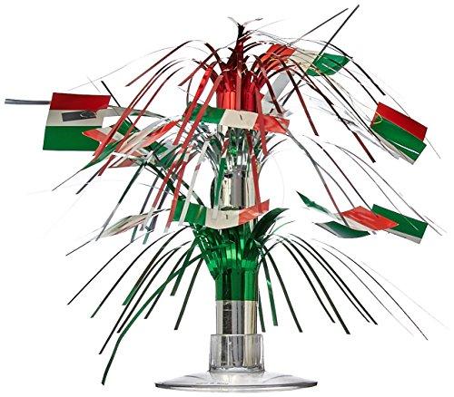 Beistle 50105 Italian Flag Centerpiece-1 Pc Italienische Flagge, Cascade, Tafelaufsatz – 1 Stück, Grün/Weiß/Rot