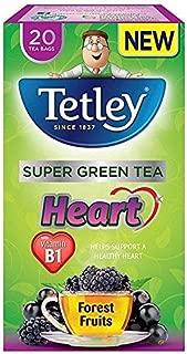 Tetley Super Green Heart Forest Fruits Tea Bags - 20 per pack (0.09lbs)