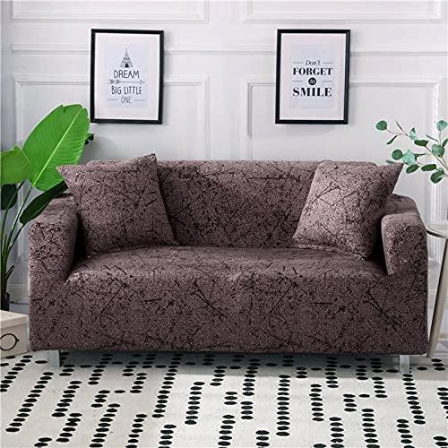 PPOS Funda de sofá elástica con Todo Incluido para Sala de Estar Funda de sofá con Estampado Floral Moderno Flexible Fundas para sofá D4 Loveseat 145-185cm-1pc