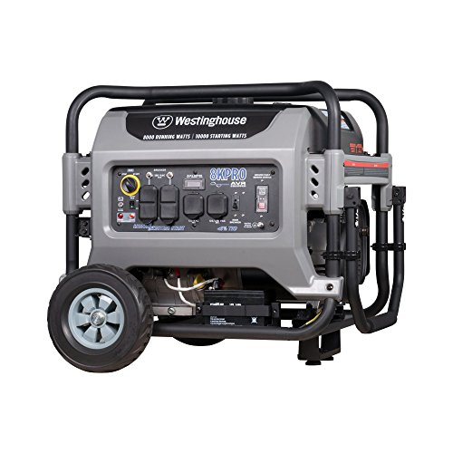 Westinghouse 8KPRO Gas Powered Portable Generator with Remote Electric Start - 8000 Running Watts and 10000 Starting Watts - Gas...