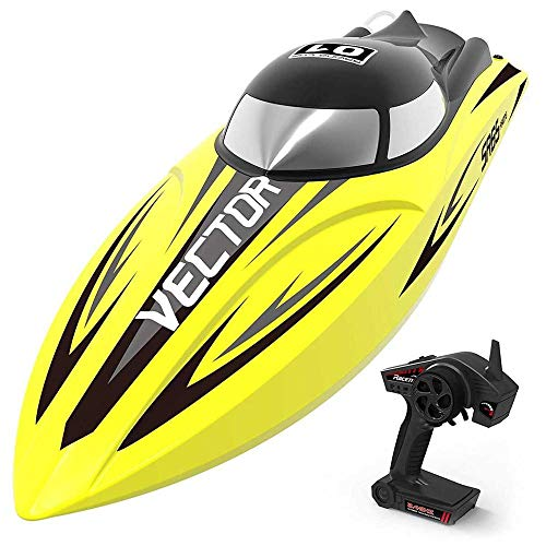 Toy RC Speed Boot 50 Km/H S, 2.4G Fernbedienung 2 Kanäle RC Boot Elektroschiff Für Kinder, High Speed Ferngesteuertes Boot Für Pool & Outdoor