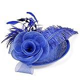 Novia Flor de Malla Sombrero de Boda Mujeres Fiesta Evento Tocado Diadema Nupcial Casarse Accesorios para el Cabello Pinza para el cabello-03_Talla única